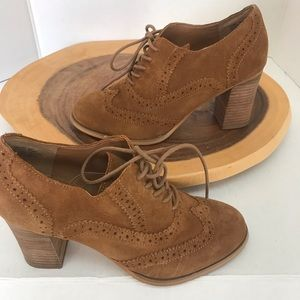 Steve Madden OMYRA  Laced Oxford Leather Booties